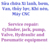 Service repair for Hydraulic, Pneumatic equipment, machinery